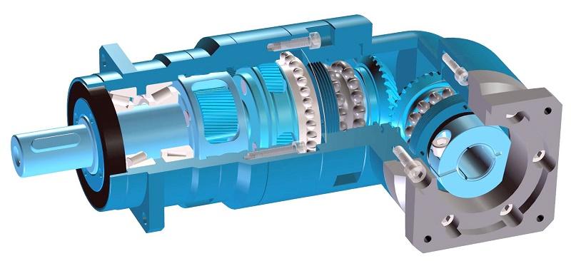 Orthogonal planetary gearbox